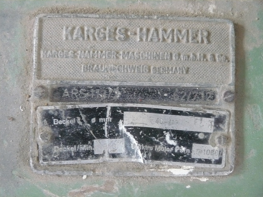 Karges Hammer ARS 113/2 ourleuse à disque