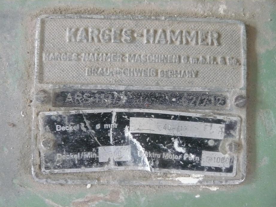 Karges Hammer ARS 113/2 disc curler