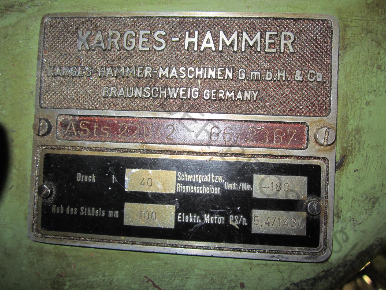 machine plate Karges Hammer