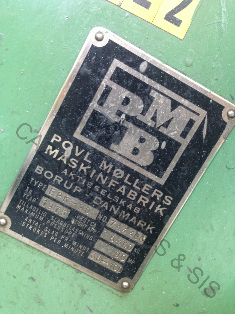 machine plate PMB