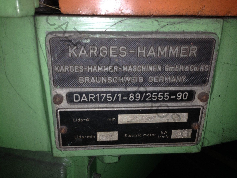 Karges Hammer DAR 175/1-89 disc curler