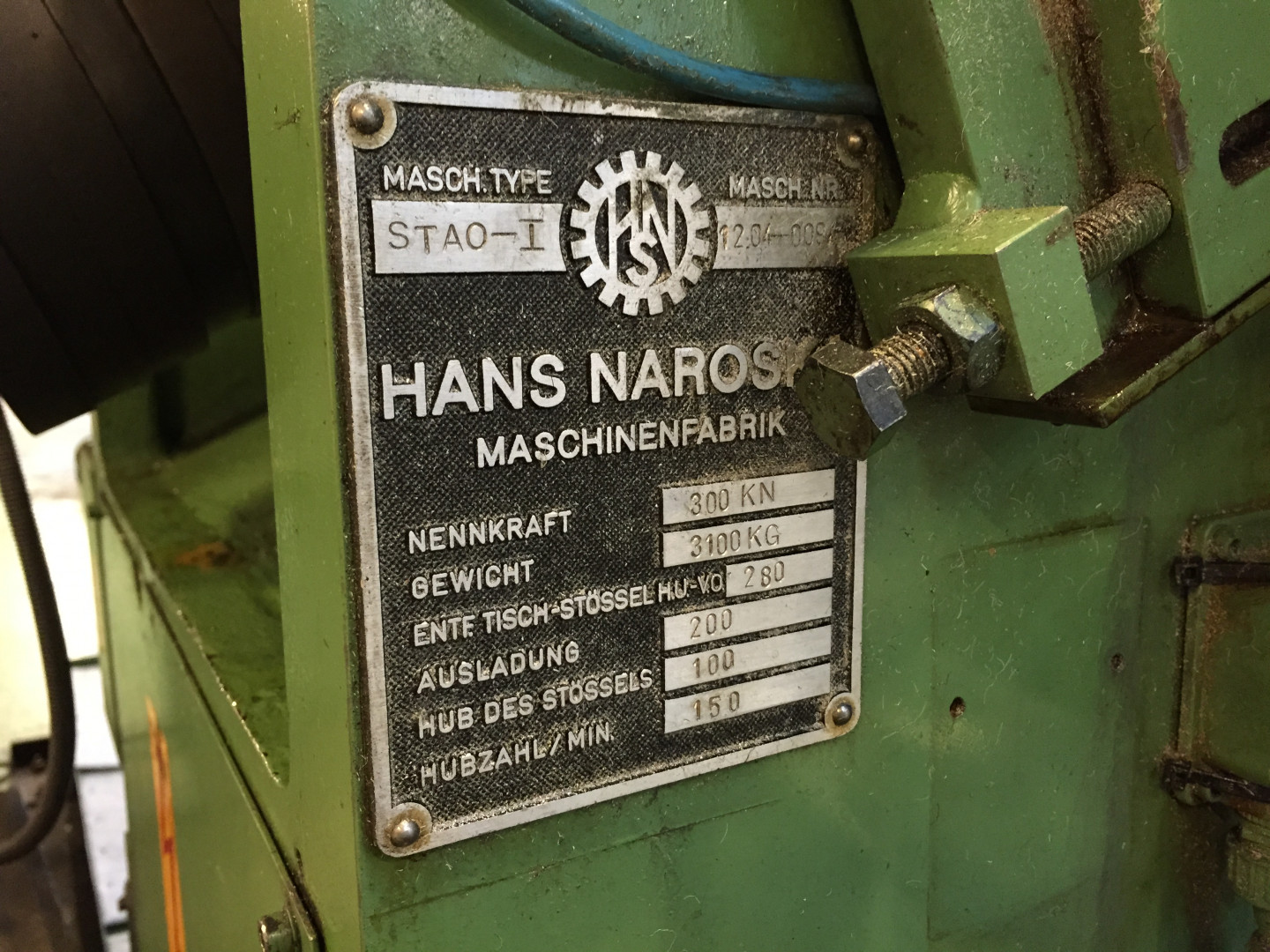 machine plate identification