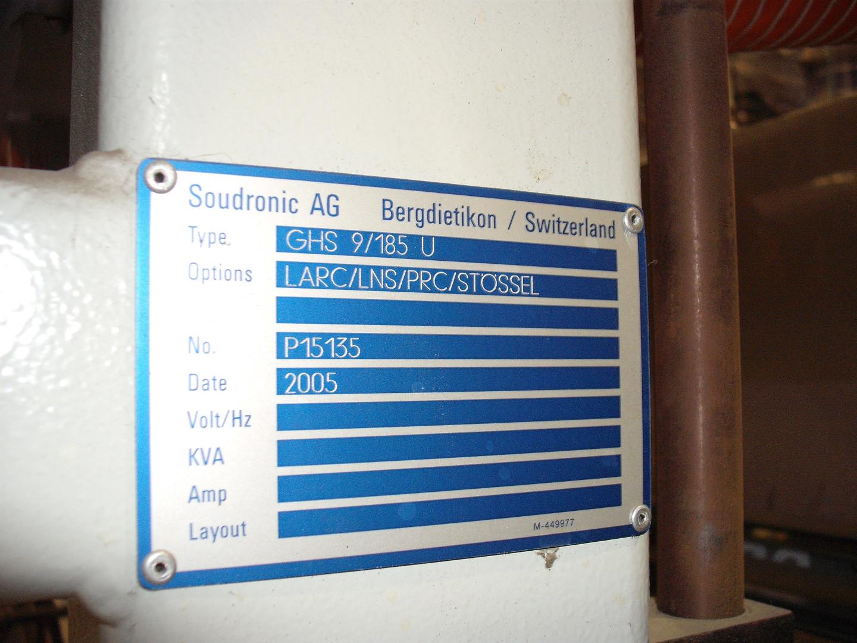 Soudronic GHS 9/185 U horno de curado