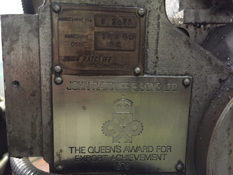 LP07 - Ratcliff machine plate