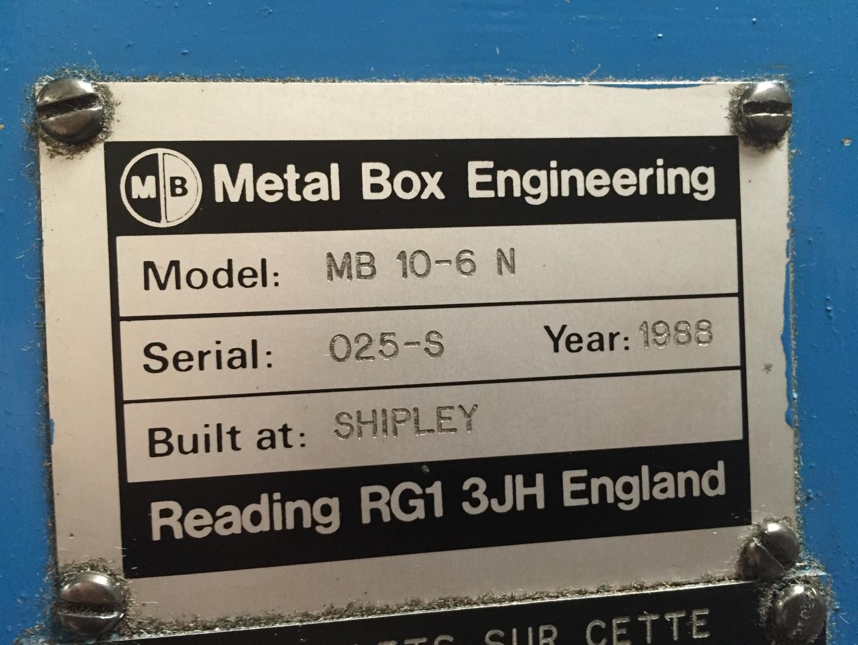 Metal Box 10-6N rétrécisseur à rotation - bordeuse