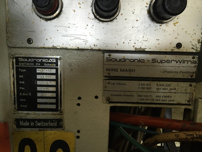 Soudronic FBB 400 soldadora de cuerpo