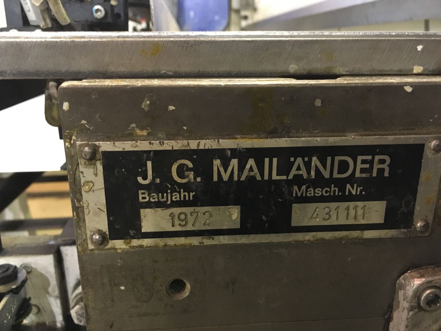 coater machine plate