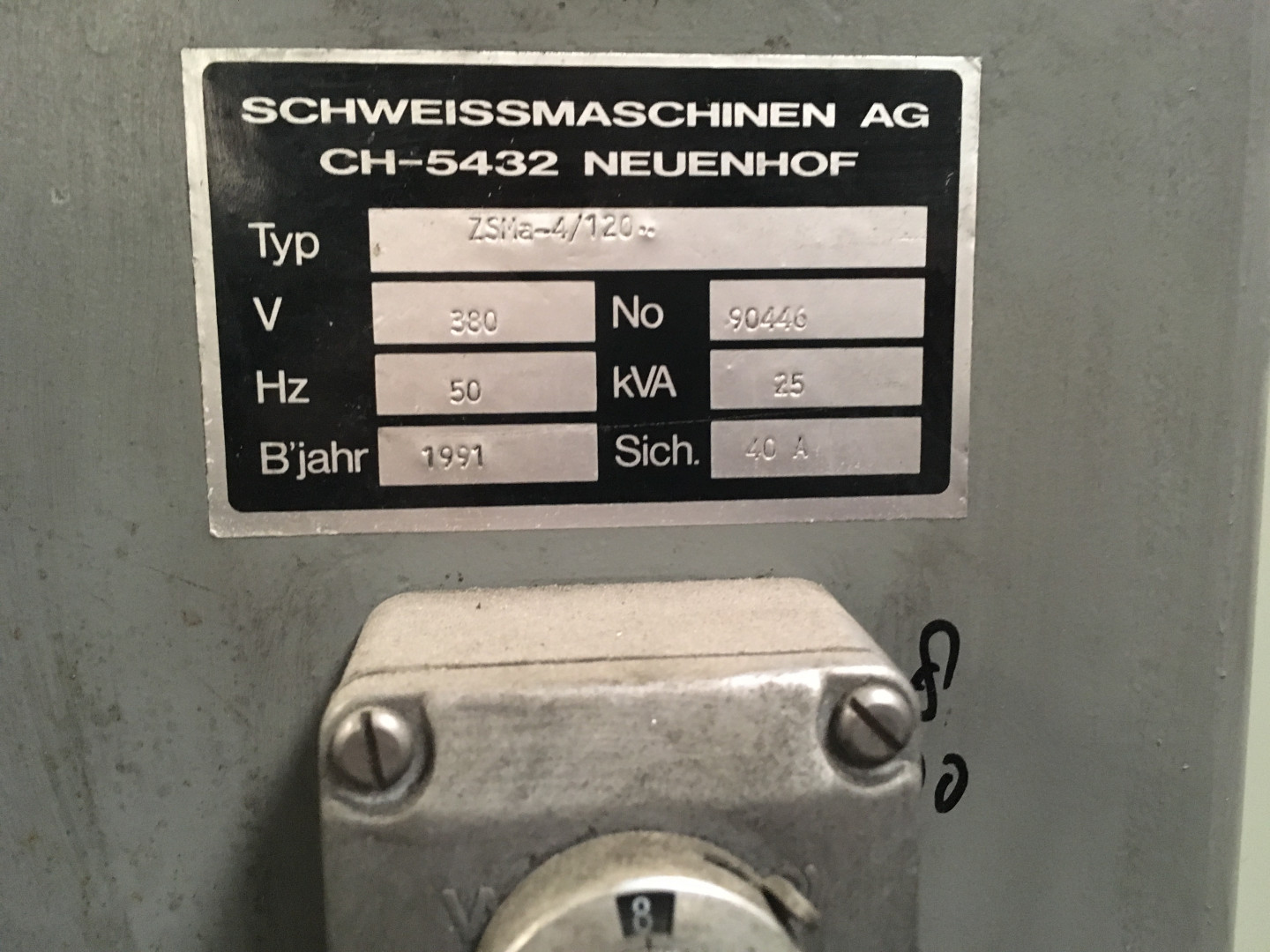 machine indication plate