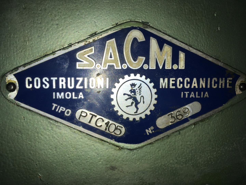 Sacmi press identification plate