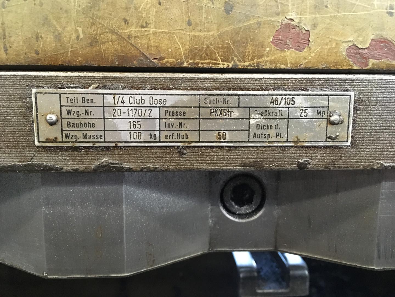 scroll shear tooling for ¼ club (format 827 x 843 mm)