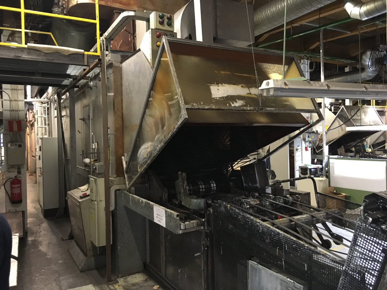 Mailander 460 coating line with LTG tunnel-oven of 28.5 meter
