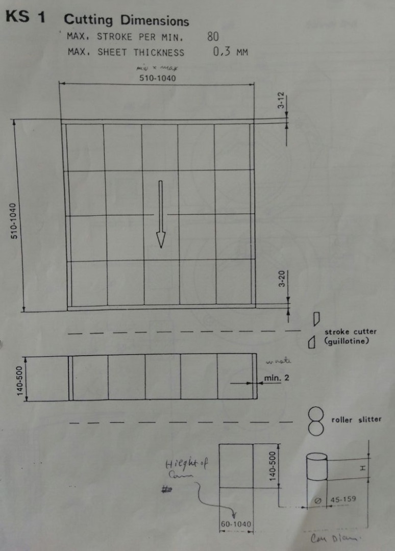 Mawag KS 1 F2 duplex slitter - sheet feeder