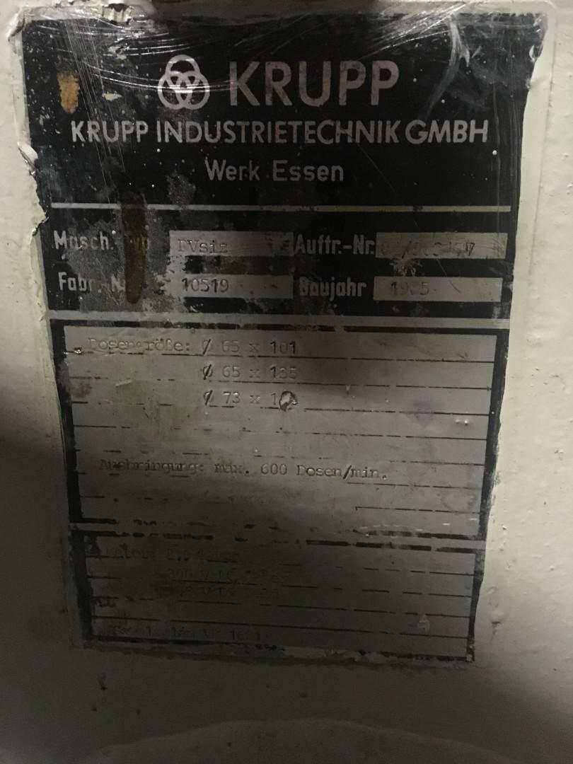 Krupp DVsiz moulureuse
