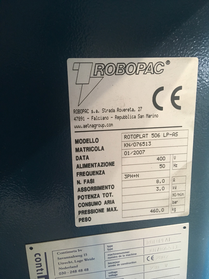 Robopac Rotoplat 506 LP-AS envolvedora