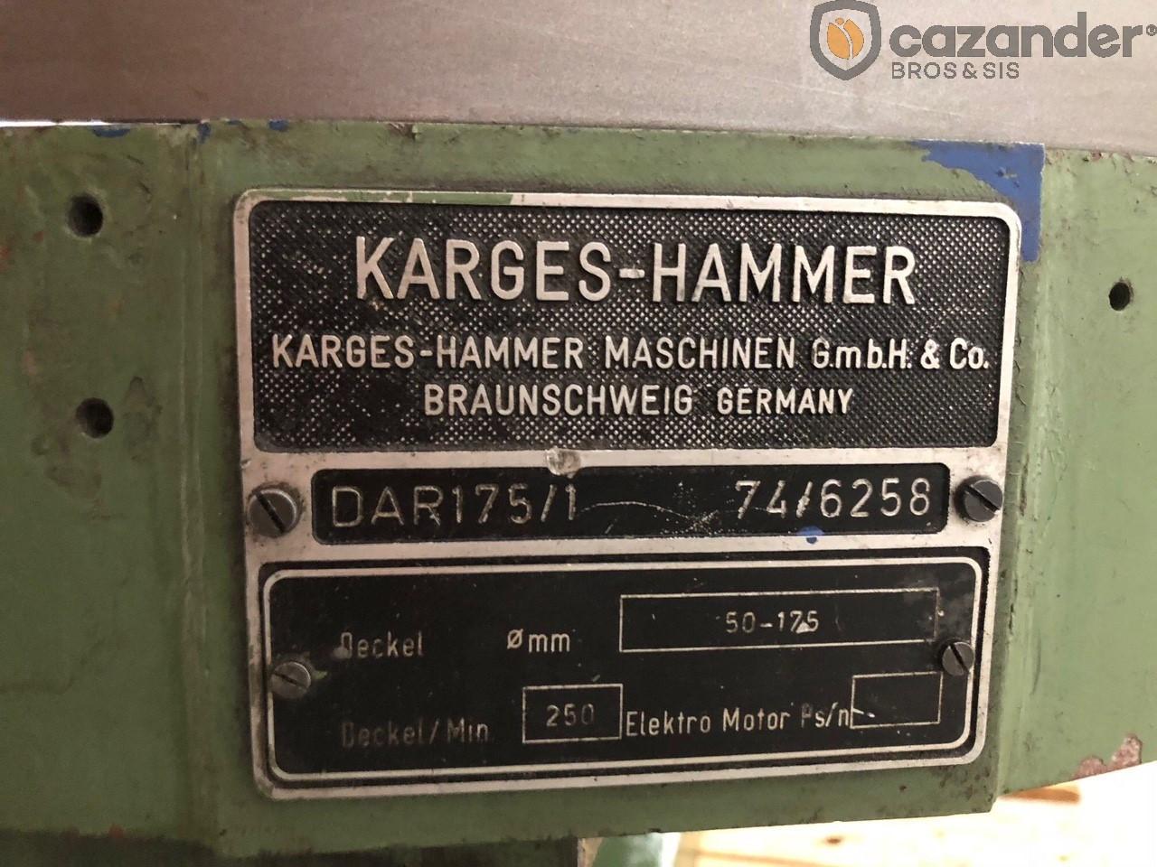 Karges-Hammer DAR 175/1 disc curler