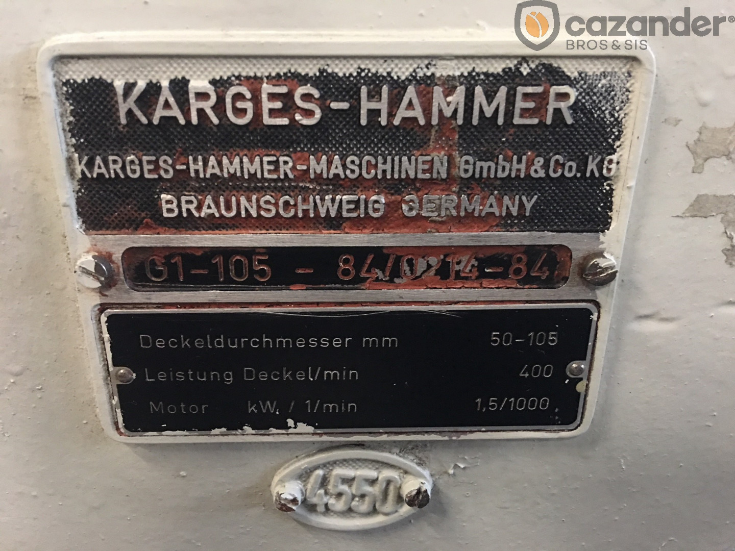Karges Hammer G1-105 jointeuse