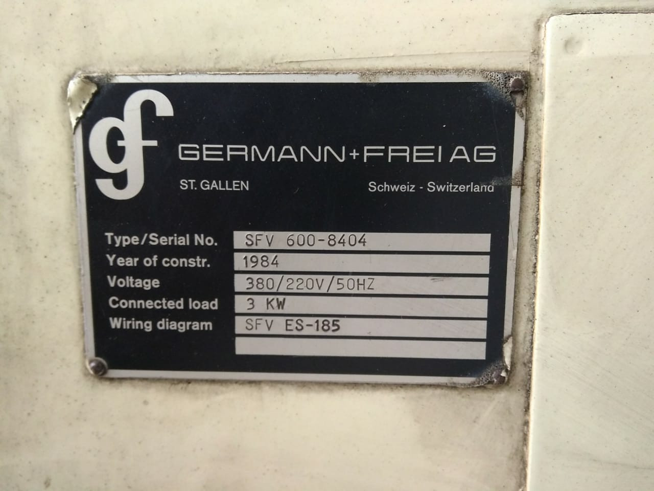 Germann & Frei SFV 600 bordeuse à rotation