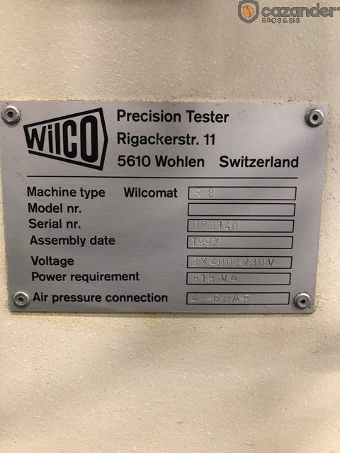 Wilco R 8 testeuse