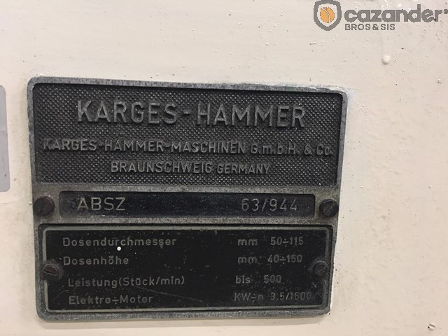 Karges Hammer ABSZ 115 bordeuse
