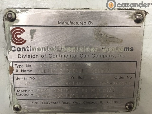 Continental Can 548-MSB-3 beader