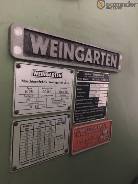 Weingarten N 25 prensa de forma