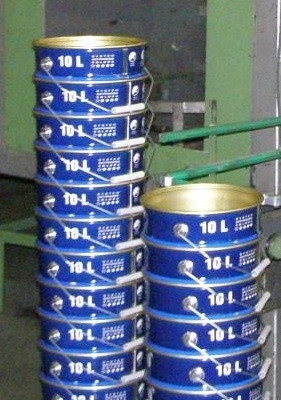 Manual production line for diameter 240 and 280 mm conical pails
