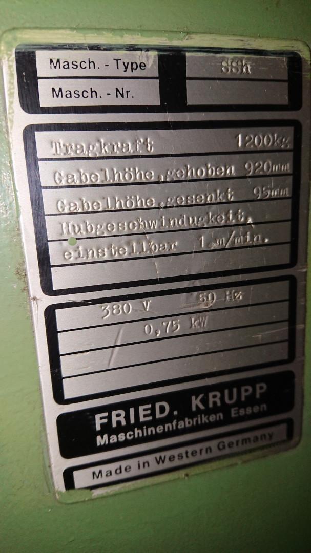 Krupp SEat-SSh cizalla sencilla - alimentador de hojas