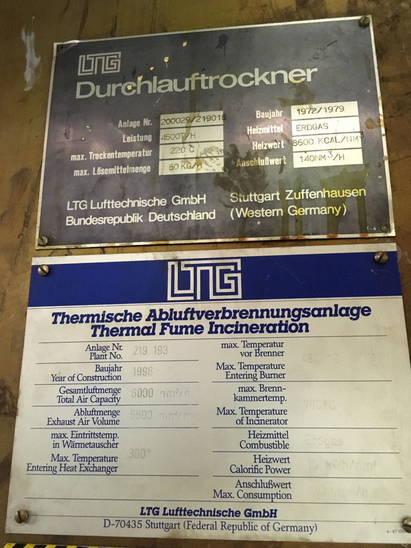 machine identification plates