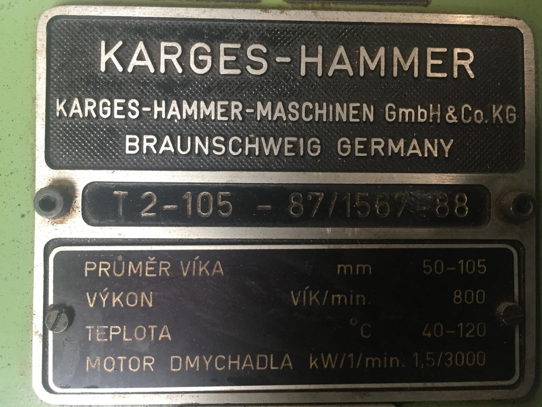 Karges Hammer T2-105 spindle oven
