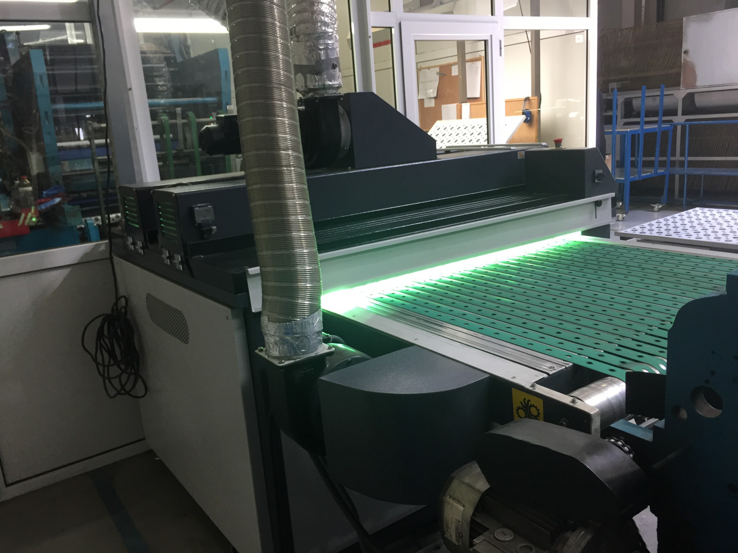 Mailander 140 single colour printing line with UV-oven