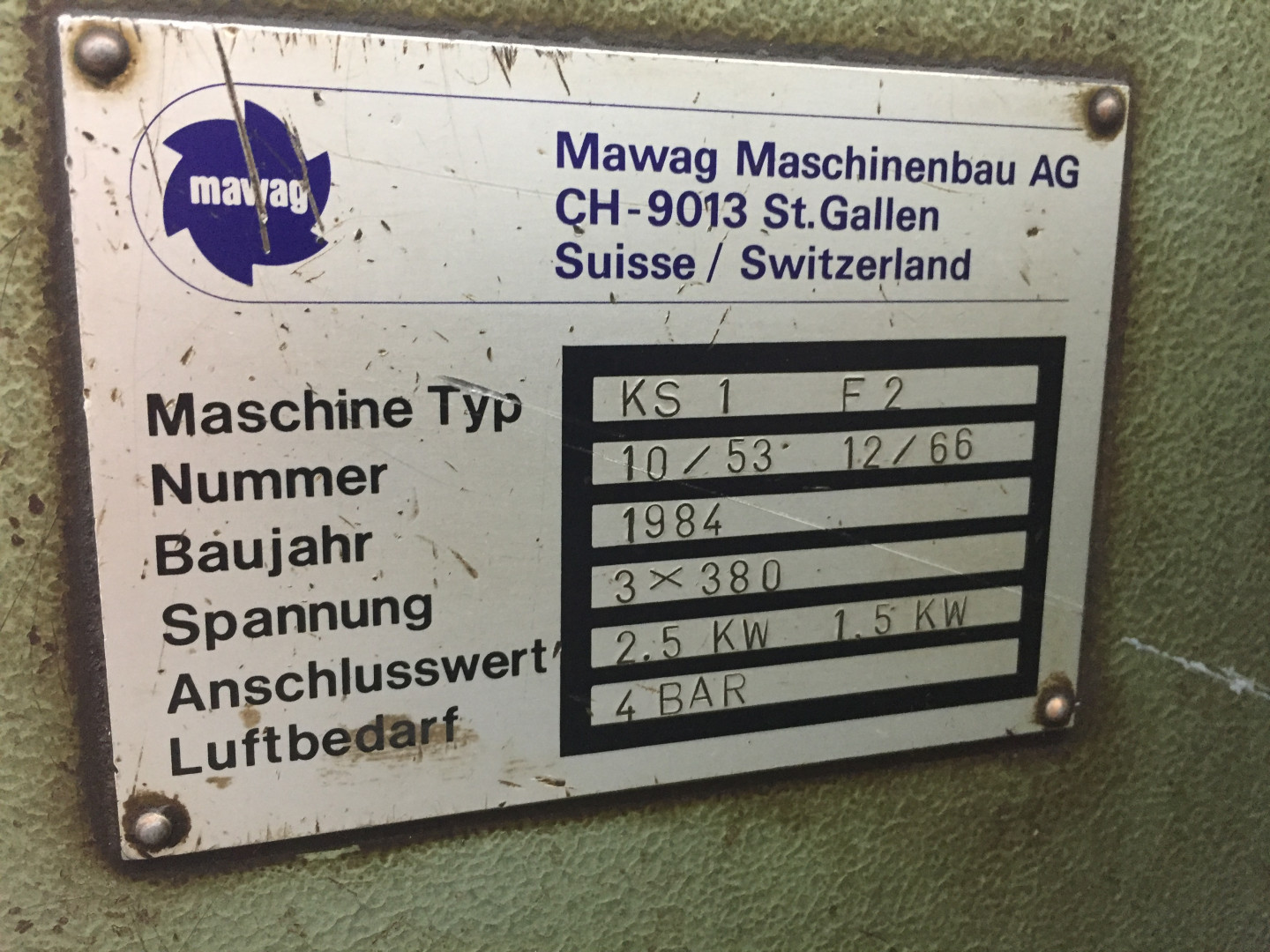 Mawag KS 1 F2 duplex slitter - sheet feeder