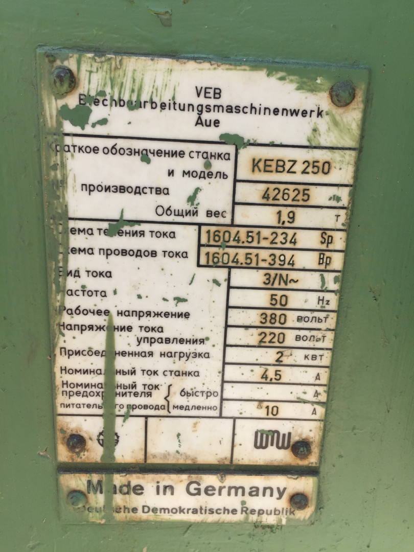 Blema KEBZ 250 bordeuse