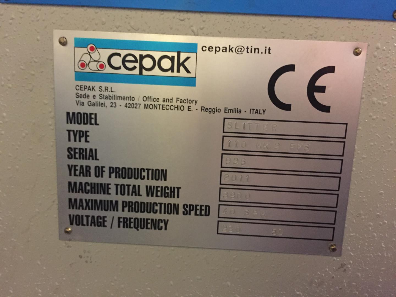 CEPAK 110 MK2 FFS duplex slitter