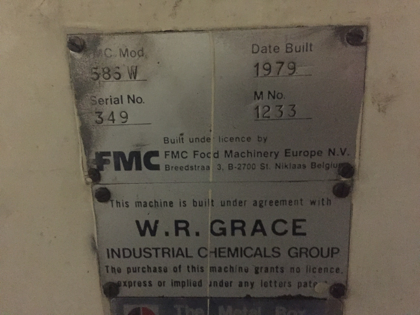 FMC GRACE 586 W compound liner