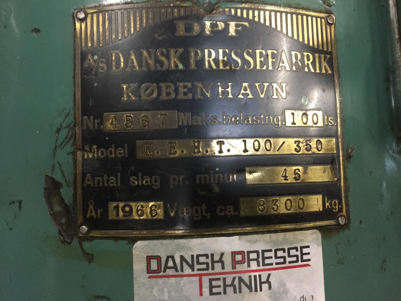 DPF KEHT 100/350 presse à bandes