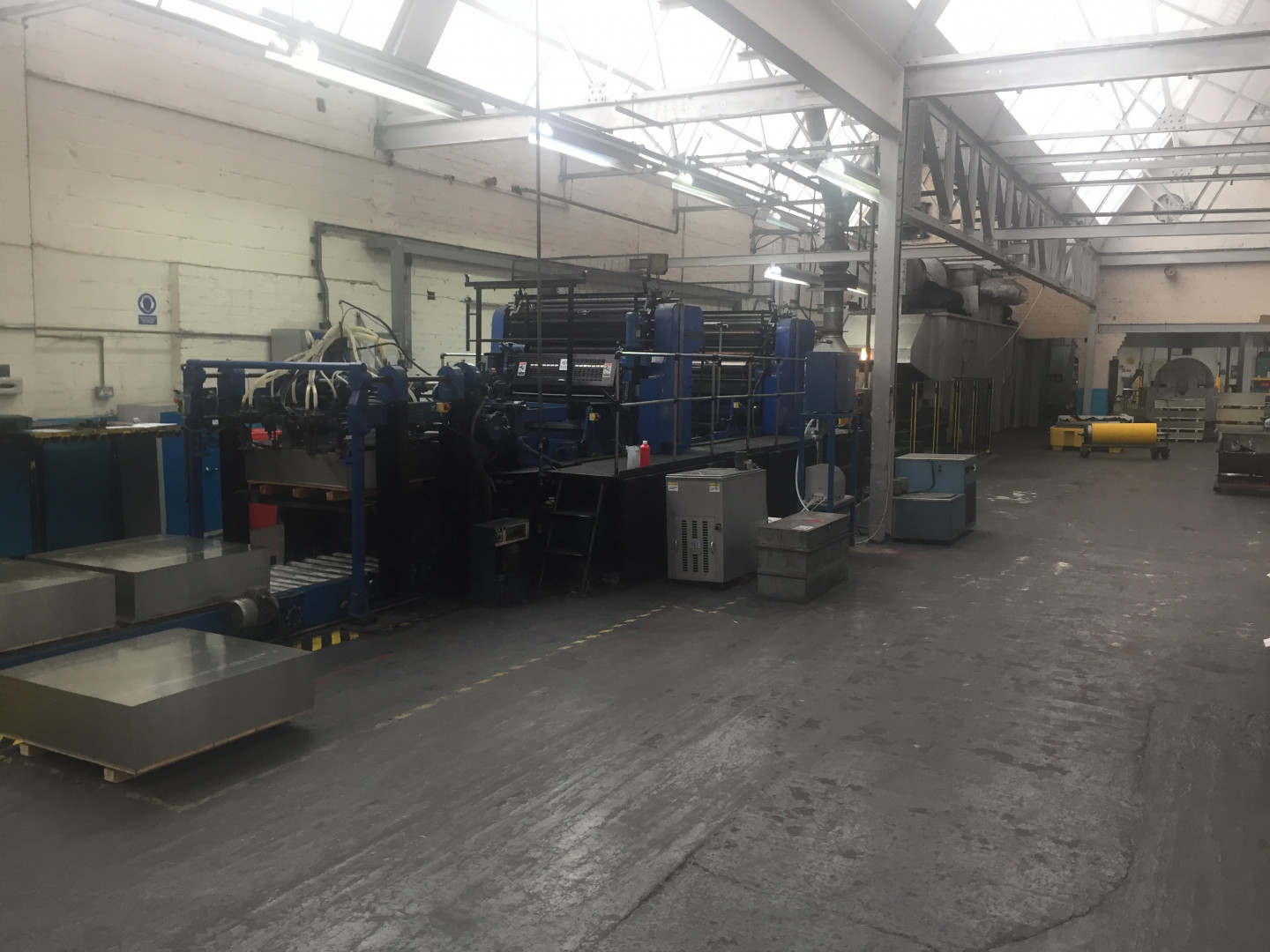 Crabtree Marquess 4036 tandem offset printing - varnish coating machine - sheet feeder