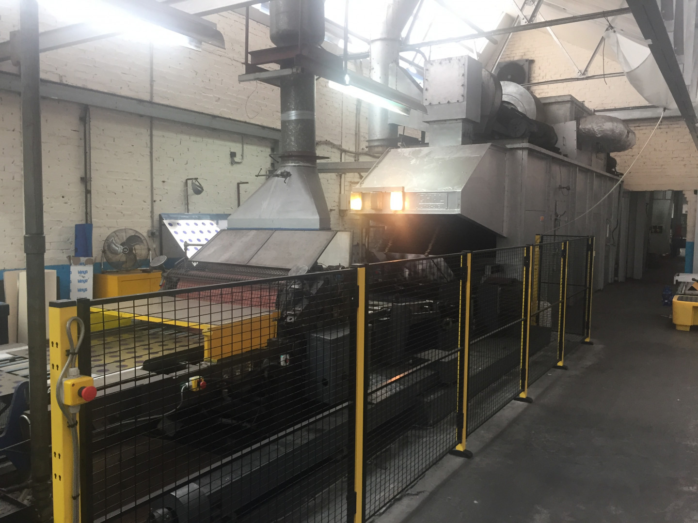 Crabtree Marquess 4036 printing line with CHAL tunnel-oven