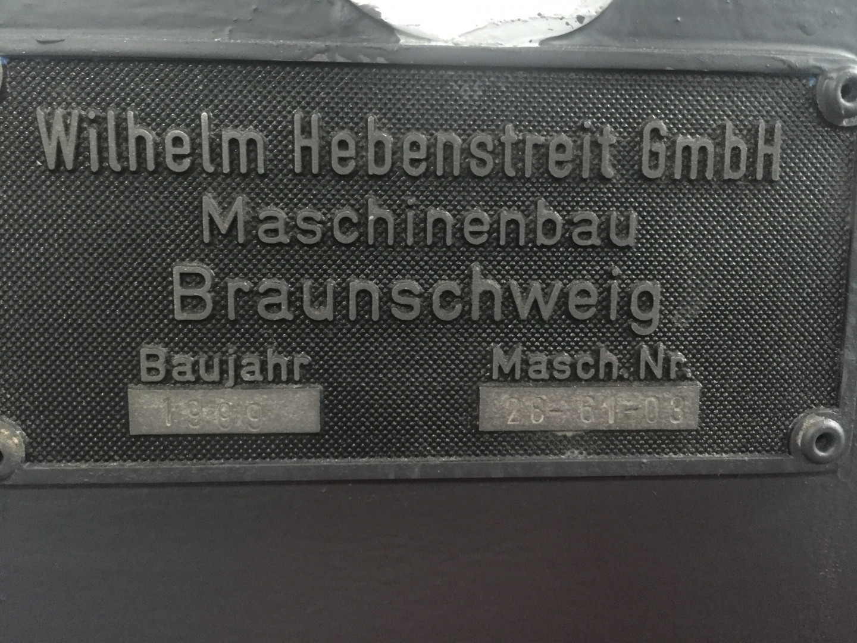 Hebenstreit  sheet stacking box