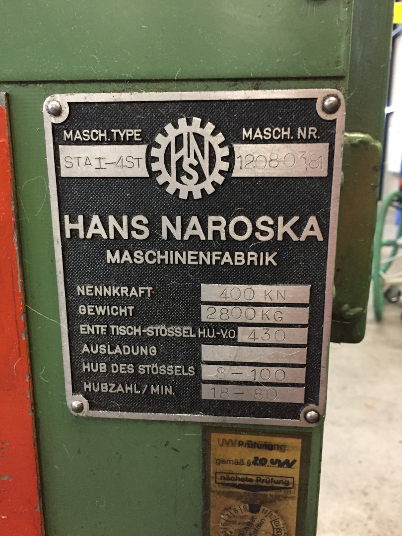 Naroska STAI-4ST forming press