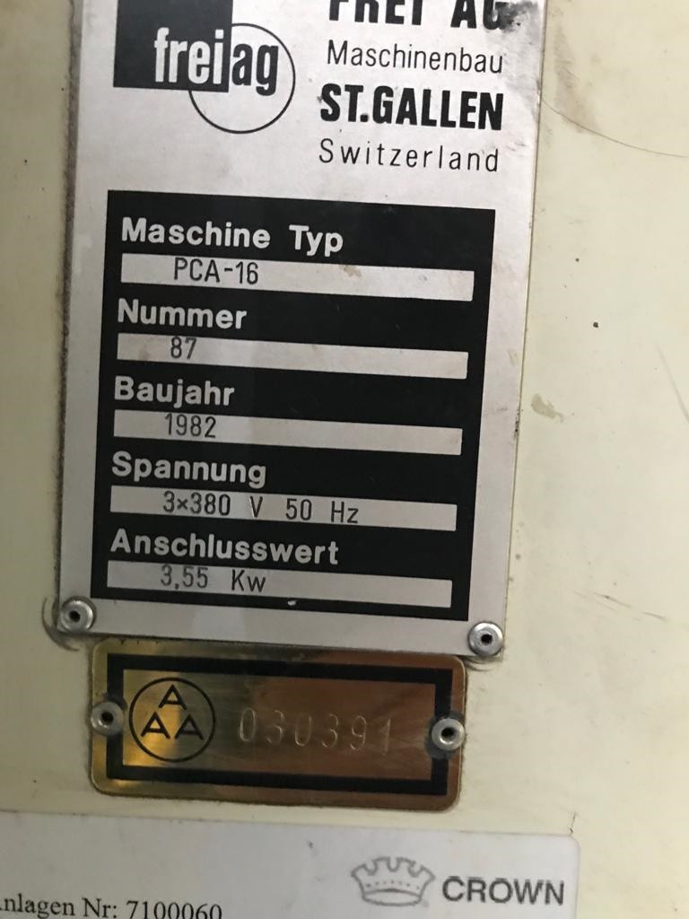 Frei PCA-16 curing oven