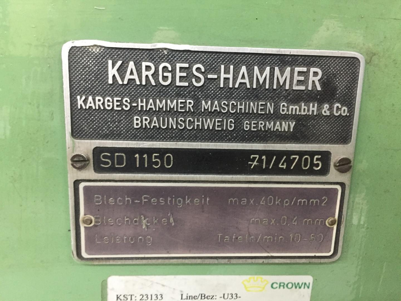 Karges Hammer SD 1150 duplex slitter - sheet feeder