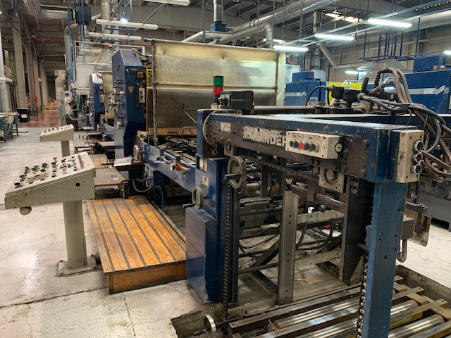 Mailander 122 tandem printing line with 30 meter LTG tunnel-oven