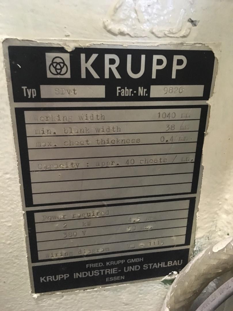 Krupp SDvt duplex slitter