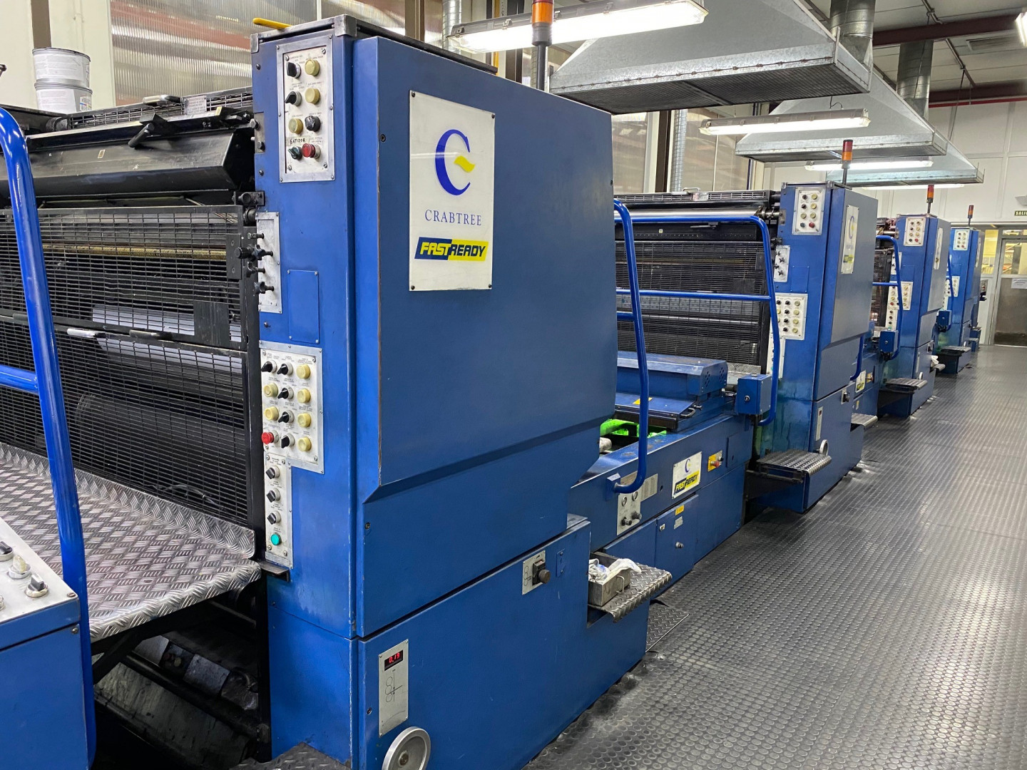 Crabtree FASTREADY 4-colour UV printing line