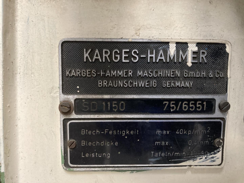 Karges Hammer SD 1150 duplex slitter