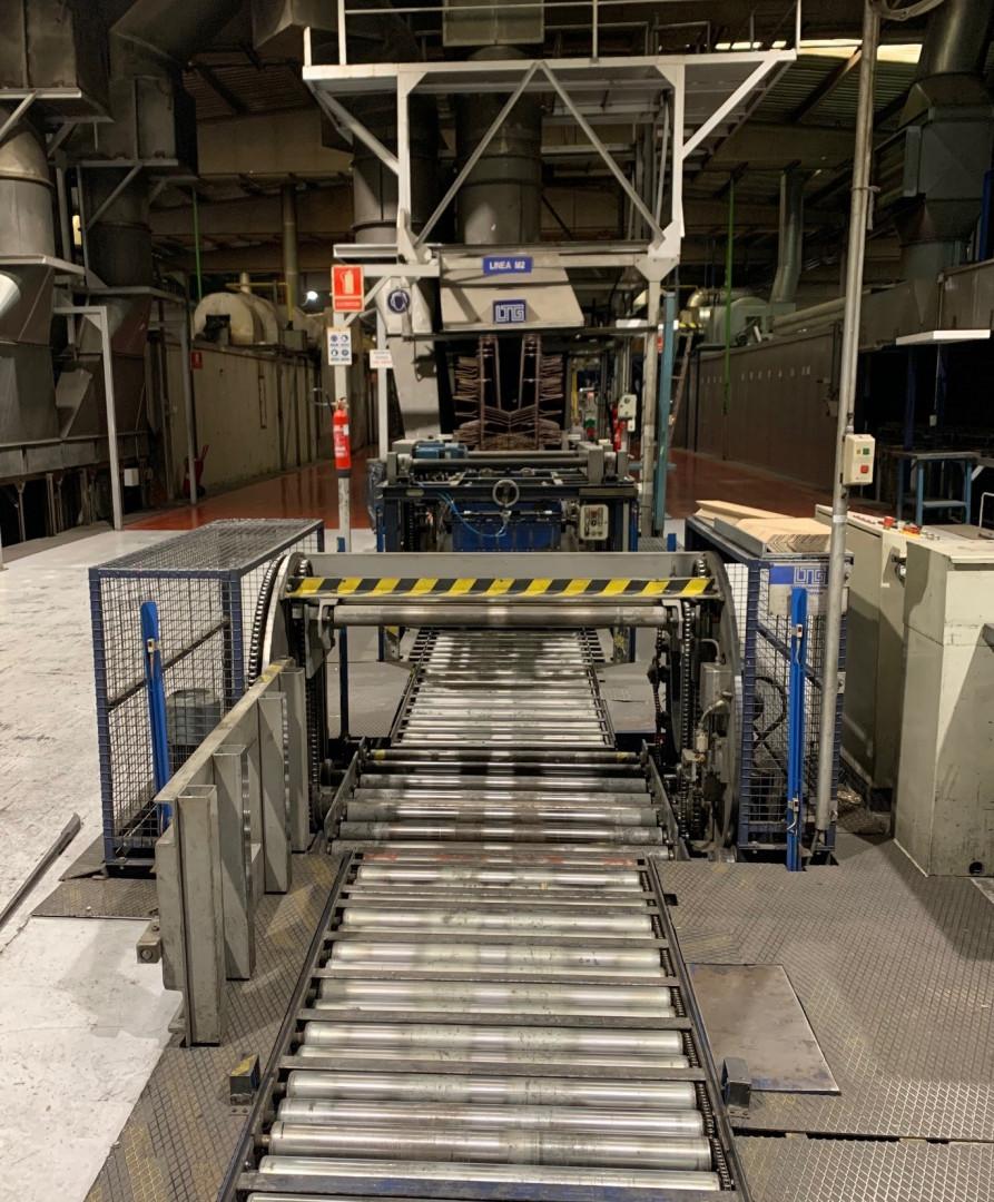 Mailander 460 coating line with 36 meter LTG tunnel-oven and incinerator