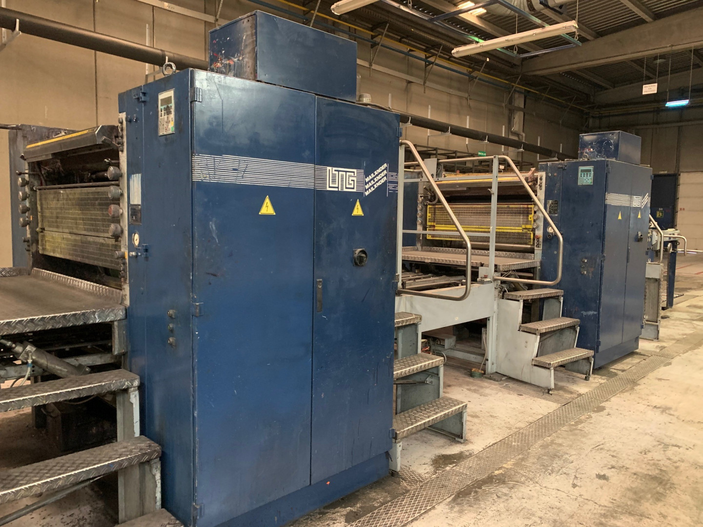 Mailander 122A tandem printing line with in-line coating and LTG tunnel-oven