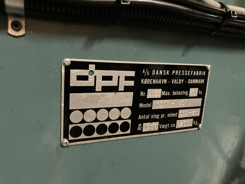 DPF KEFH-40 forming press