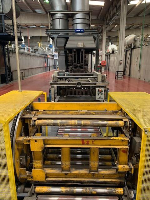 LTG 200357 tunnel oven - sheet stacking box - bundle turner