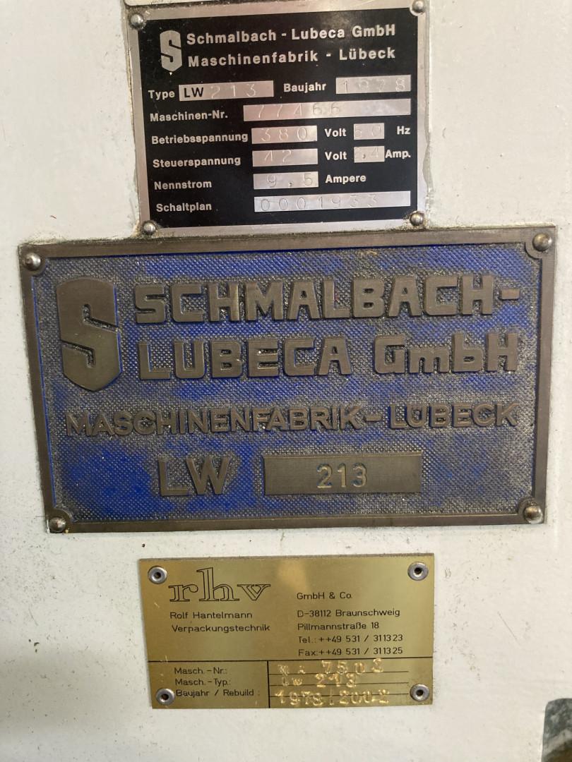 Schmalbach Lubeca LW 213 sertisseuse